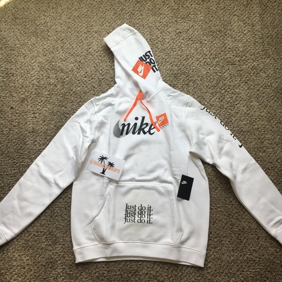 1808cde6 NIKE JDI CLUB PULLOVER HOODIE (WHITE) SIZE - LARGE NWT